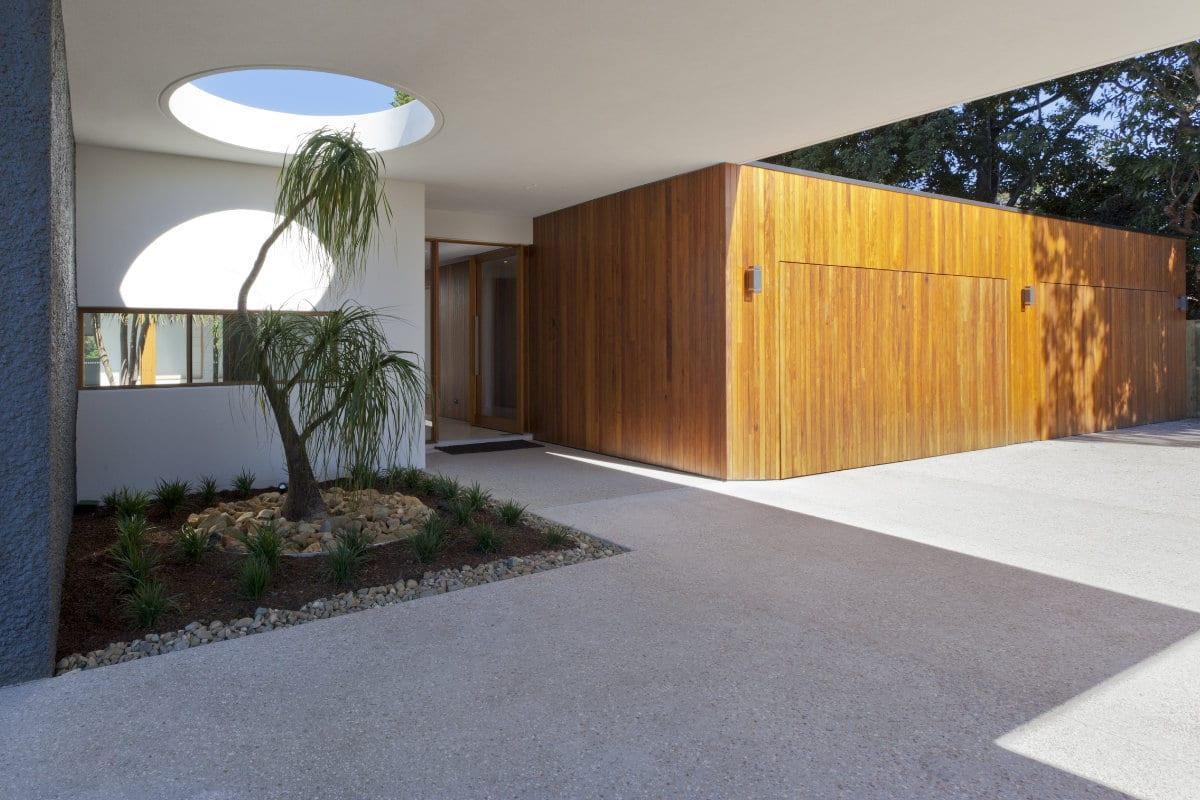 gegoten betonvloer buiten