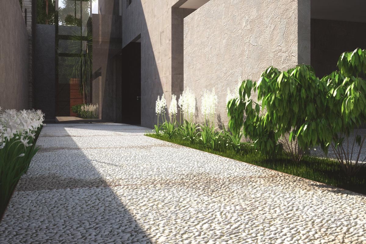 uitgewassen betonvloer buiten